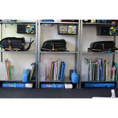 【気づけば置きっぱなしのランドセル問題!どう解決?】ランドセル|子ども|小学生|収納 Kidsroom, House Rooms, Playroom, Locker Storage, Baby Kids, Bookcase, Shelves, Cabinet, Diy
