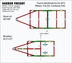 Rv travel trailer junction box wiring diagram trailer wiring converting a harbor freight 94564 capacity trailer frame from to the x to perfectly fit the tub ms asfbconference2016 Choice Image