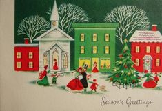 🎄🎅🏼⛄️ Christmas Collage, Christmas Artwork, Christmas Town, Christmas Scenes, Christmas Things, Christmas Items, Christmas Greetings, Homemade Christmas Cards, Vintage Christmas Cards