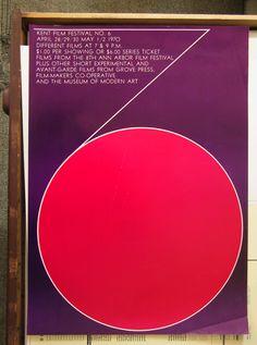 Kent Film Festival Number 6. Design by j. Charles Walker, 1970.