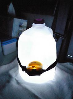 When camping, stick a headlamp around a water jug and it will light up the tent. When camping, stick a headlamp around a water jug and it will light up the tent. When camping, stick a headlamp around a water jug and it will light up the tent.
