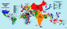 Un mapa que refleja el preocupante crecimiento de la población mundial