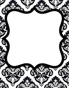 Freebie 1 Gorgeous DAMASK Invitations Birthday Borders For Paper Damask