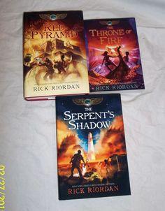 Rick Riordan The Kane Chronicles books 1 2 3 Red Pyramid Throne of Fire Shadow