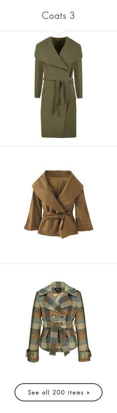 """Coats 3"" by caili ❤ liked on Polyvore featuring outerwear, coats, jackets, coats & jackets, green, wrap coat, green coats, oversized coat, oversized waterfall coat and waterfall coats"