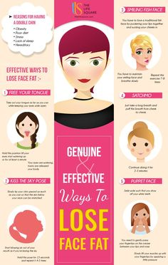 How to loose face fat - Infographic