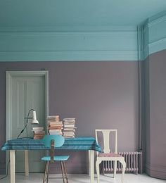 Ceiling And Chair Stone Blue Wall Brica Far Door Manor House Gray