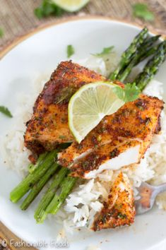 Cod filets are rubbed with a flavorful spice mixture before roasting to perfection. Top this roasted chili-lime cod with a delicious lime-butter sauce and serve over your favorite veggie and rice, quinoa, or cauliflower rice for a simple weeknight meal! Cod Fish Recipes, Seafood Recipes, Dinner Recipes, Cooking Recipes, Healthy Recipes, Easy Cod Recipes, Grilled Cod Recipes, Top Recipes, Chili Recipes