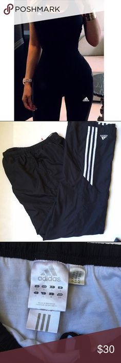 ⚡️ Adidas Superstar Black Athletic Track Pants Adidas Superstar Black Track Pants. Size small  - Black with white racing stripes half way down the sides & white logo  - Athletic style track  - Athletic. Light weight.  High quality material. Size small  -  full zip up, front hand pockets in the front  - Good condition - Super comfortable. No rips stains or tears. adidas Pants Track Pants & Joggers