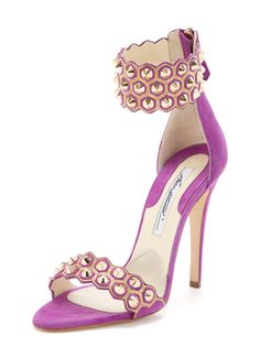 Abell Studded Suede Sandal from Splurge-Worthy Shoes on Gilt