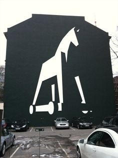 Jung Von Matt's Trojan horse logo outside their hq. Coolness.