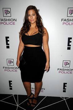 Ashley Graham: Ashley Graham, who is set to show her lingerie line at NYFW, perfectly pulled off the crop top/midi skirt combo at E!'s 2016 Spring NYFW kickoff party.