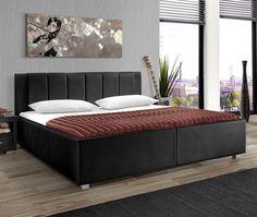 massivholzbett mit schrägem kopfteil aus luxus-kunstleder ... - Dream Massivholzbett Ign Design