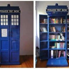 TARDIS...well it could be anything! Liquor cabinet, pantry, books...I love it!