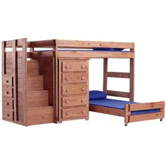 Twin Over Twin Quarters Bed with 5-Drawer Chest by Chelsea Home