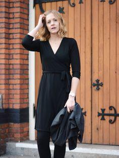 Ibex - Wrap Dress - Little Black Dress Giveaway  A PIECE OF ELISE