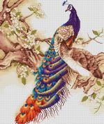 Peacocks I Cross Stitch Kit