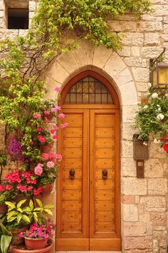 Door in Assisi, Italy  Food Lover's Odyssey