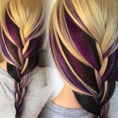 Hair Stylist: Victoria Taggart at Dollhouse Salon 💜 - - Hair Stylist: Victoria Taggart at Dollhouse Salon 💜 Hair Friseurin: Victoria Taggart im Dollhouse Salon 💜 Hair Color And Cut, Cool Hair Color, Hair Colors, Colours, Love Hair, Gorgeous Hair, Dream Hair, Rainbow Hair, Crazy Hair