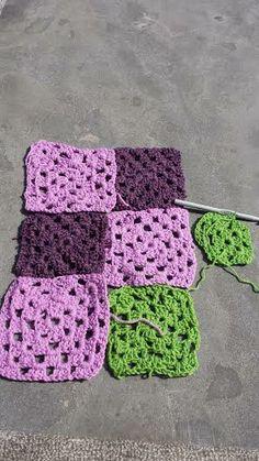 Granny square in wording gemaakt door Merel Maris (11 jaar) onder begeleiding van Atelier Naaiz11.