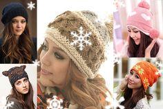 Transforma Banala Caciula In Cel Mai Trendy Accesoriu Al Sezonului Rece! Winter Hats, Crochet Hats, Fashion, Knitting Hats, Moda, Fashion Styles, Fashion Illustrations
