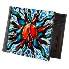 #Peace Sun 2014 (c) Mens Wallet on CafePress.com