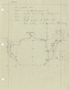 Martin Newell's drawing of the Utah Teapot - CHM Revolution