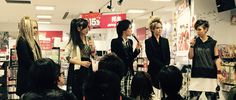 Photos from exist†trace's HMV in-store appearance in Osaka! #existtrace #jrock #visualkei