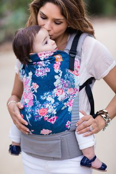 Canvas - Tula Release 'Flora Blue' TULA BABY CARRIER