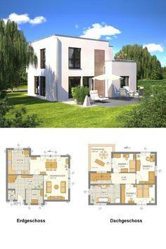 Modernes Wohnhaus mit fließendem Grundriss - Hommage 165 - Hanlo Haus - Haus Ideen auf HausbauDirekt