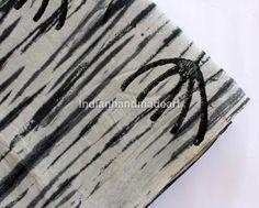1 Yard  Hand Block Print Handmade 100% Cotton Indian Natural Tiy Dyd Fabric #Handmade