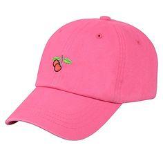 c27b5a64bed7f Hatphile Mens Womens Dad Hat Large Pink Cherry Hatphile http   www.amazon