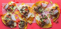 I'm not a fan of pork or chorizo, but I love the idea of adding radish to pico de gallo or nachos -- spicy, crisp and fresh, I'm totally trying it!
