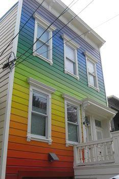 Rainbow Paint on a house