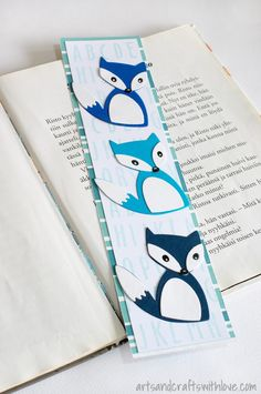 Die-cut bookmarks. Make one for yourself and a pile for your friends! Quick and easy! -by Elina Stromberg-