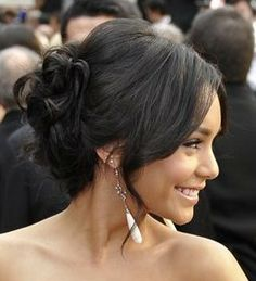 Romantic Updo with Loose Tendrils Romantic Updo, Elegant Updo, Up Hairstyles, Wedding Hairstyles, Stylish Hair, About Hair, Bridesmaid Hair, Bridal Looks, Hair Looks