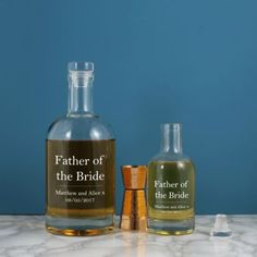 Personalised Father Of The Bride Glass Decanter