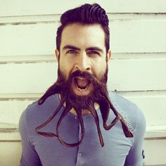 With an impressive crop of facial hair,Isaiah Webb creates fantastically peculiar beard sculptures. Known as Mr. Incredibeard online, the beard artist has gained quite an online following since he started practicing in 2012. In his latest photo sequence, Webb uses his beard to spell words, create geometric designs, emulate fictional characters and sculpt seasonally themed figures. The San Francisco resident comes up with the designs, and his wife helps style them into existence. But for ...