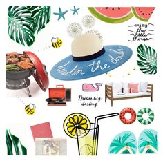 """""""Summertime"""" by hopelovesfashion ❤ liked on Polyvore featuring art"""