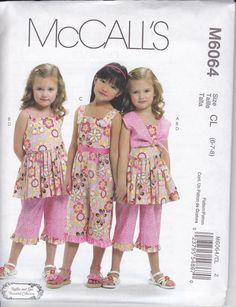 McCalls 6064 Girls' Bolero Dress Jumpsuit and by NannyBoutique, $5.00