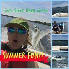 Save Green Being Green: Wordless Wednesday: Boating & Tubing on Cannon Lake in Faribault, MN