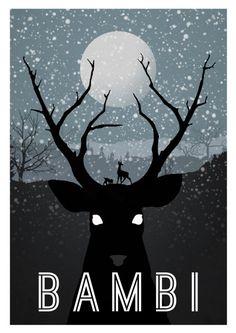 Bambi (Clássicos da Disney em cartazes minimalistas - Designerd)