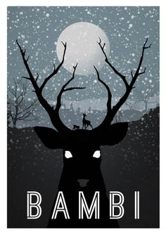 Alternative Disney Movie Poster: Bambi. See more here: http://blog.dtoday.de/neonroehren/2012/04/alternative-disney-movie-poster/