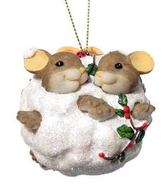 CHARMING TAILS (RETIRED) ORNAMENT SNOWBALL LOVE