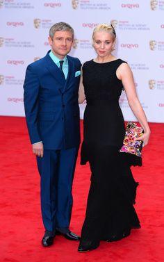 Lovely lovely lovely {Hi-res pix:Martin Freeman & Amanda Abbington at the Arqiva British Academy Television Awards 2013 on May 12, 2013 in London.}