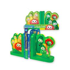 This is a real decorative piece for your kid's bookshelf! Get attractive bookends at VeggieTales Store.