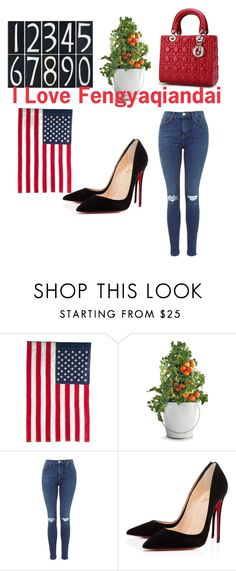 """Fengyaqiandai20151104001"" by houseofhello on Polyvore featuring Evergreen Enterprises, Potting Shed Creations and Christian Louboutin"
