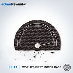 So what's your Oreos per hour speed? Huh? #OreoRewind #MotorRace