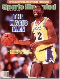 Basketball Legend Magic Johnson has personally hand-signed this Sports Illustrated Magazine. As point guard of the Los Angeles Lakers Earvin Magic Johnson led his team to five championships du Sports Illustrated Nba, Magic Johnson Lakers, Si Cover, Basketball Videos, Basketball Photos, Sports Magazine, Slam Magazine, Bo Jackson, Star Wars