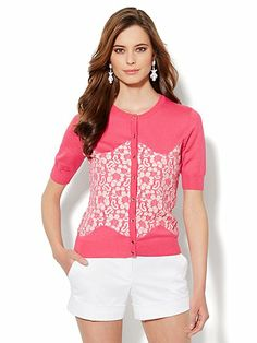 Chelsea Cardigan - Floral-Lace Front